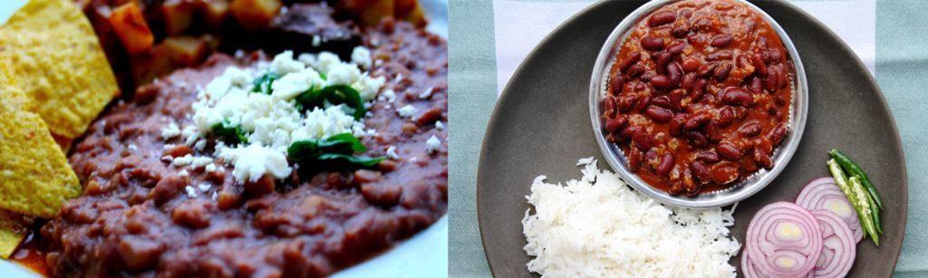 Los-Frijoles-refritos-Rajma-1024x307 10 Similitudes comida de India y México
