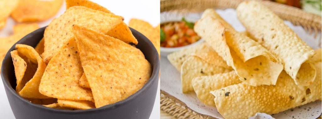 Nachos-o-totopos-Papadam-1024x380 10 Similitudes comida de India y México