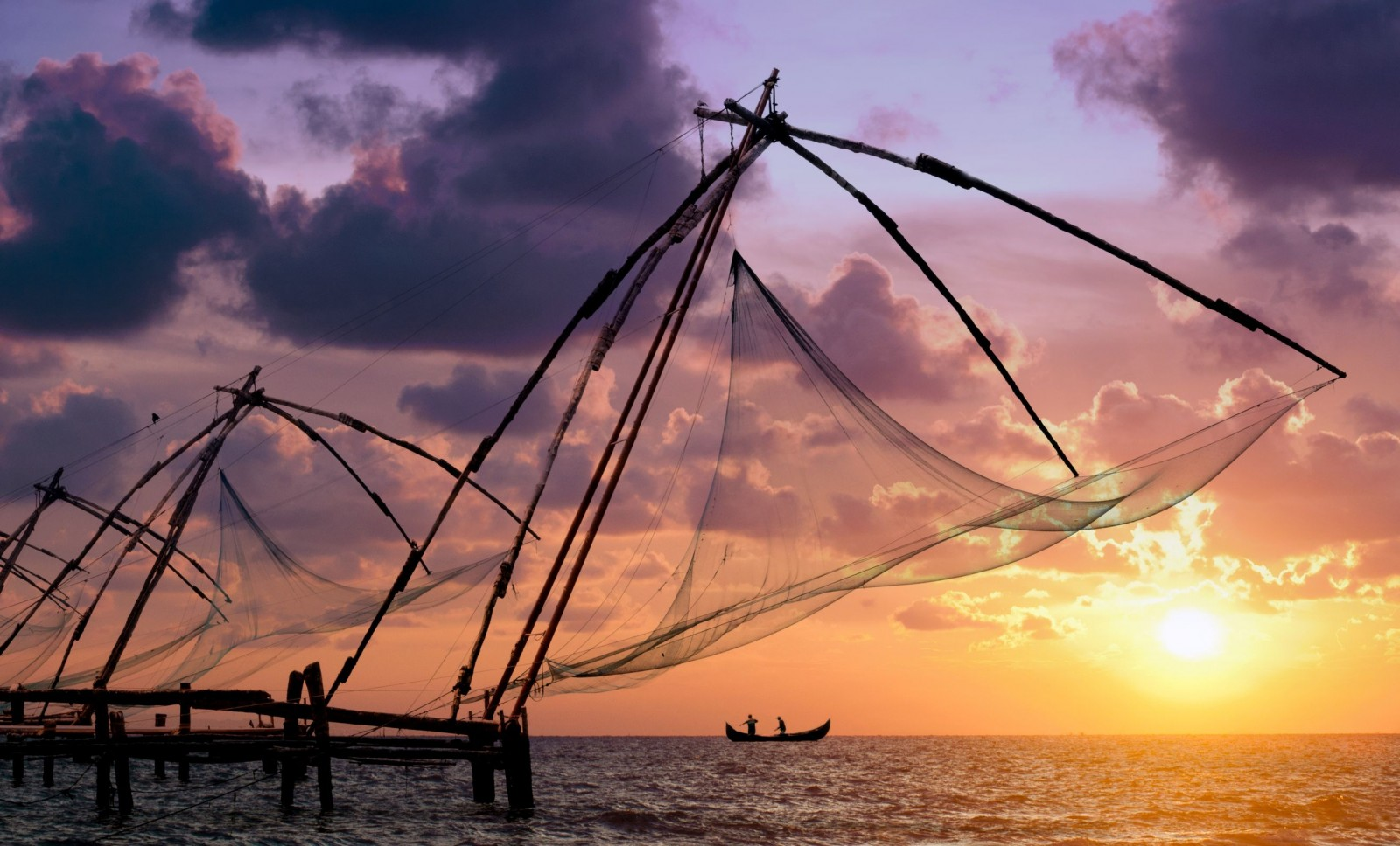 Chinese-Fishing-Nets-Kochi 30 increíbles atractivos turísticos de la India