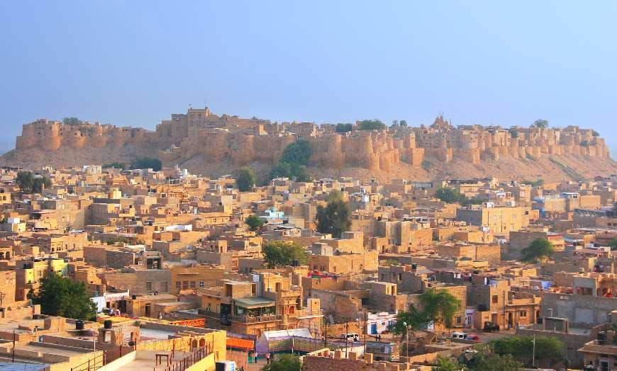 Jaisalmer_fort_Rajasthan_India 30 increíbles atractivos turísticos de la India