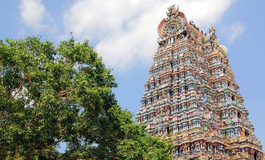 Shree-Meenakshi-Temple-Madurai 30 increíbles atractivos turísticos de la India