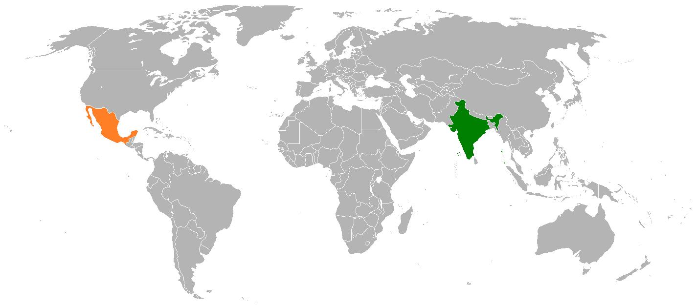 extension-geografica Diferencias y Similitudes entre México y la India