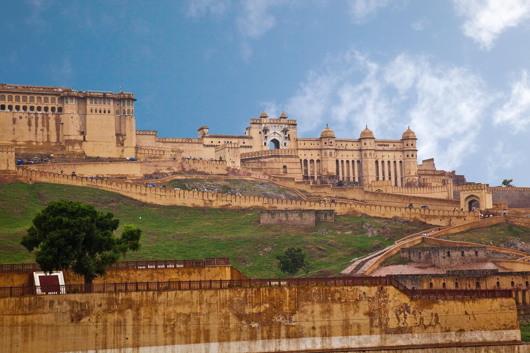 Amber-Fort-Jaipur 10 Lugares Más famosos para Visitar en Rajastán