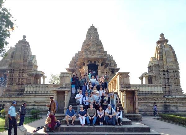 Viaje a khajuraho  temple India